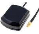 GPS anténa vnitřní MCX-A zástrčka přímý kabel 5m magnet