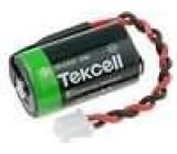 Baterie lithiové 1/2AA 3,6V Vývody vodiče průměr 14,3x24,6mm 1200mAh