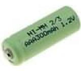 Aku baterie Ni-MH 2/3AAA 2/3R3 1,2V 0,3Ah průměr 10,5x28,5mm