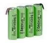 Aku baterie Ni-MH AA 4,8V 2,1Ah Vývody pájecí očka