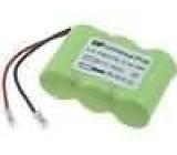 Aku baterie Ni-MH 3x2/3AA 3,6V 300mAh 42,4x29,2x14,4mm