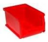 Zásobník dílenský 102x160x75mm červená plast