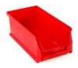 Zásobník dílenský 102x215x75mm červená plast