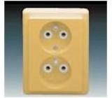 Dvojzásuvka na stěnu 5512C-2349D2 CLASSIC