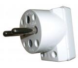 Vidlice do zásuvky 5536-2154 úhlová bílá
