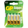 Baterie GP Super Alkaline LR6 (AA tužka) blistr