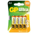 Baterie GP Ultra Alkaline R6 (AA tužka) blistr/4
