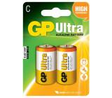 Baterie GP Ultra Alkaline R14 (C, malé mono) bl.
