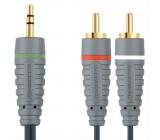 Bandridge audio kabel pro přenosná zařízení, 2m, BAL3402