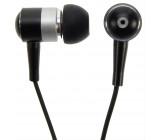 Sluchátka, pecky, 10mm, metalická barva, černá