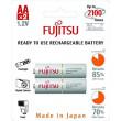 Fujitsu přednabitá baterie White R06/AA, 2100 nabíjecích cyklů, blistr 2ks