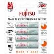 Fujitsu přednabitá baterie White R06/AA, 2100 nabíjecích cyklů, blistr 4ks