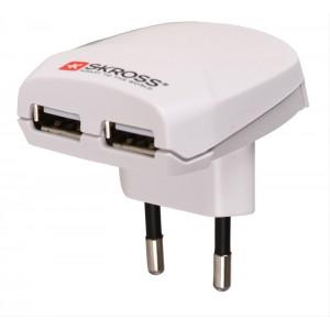 SKROSS Euro USB nabíjecí adaptér, 2100mA, 2x USB výstup