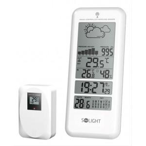 Meteostanice, bezdrátová, velký LCD, teplota, vlhkost, tlak, RCC, bílá