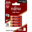 Fujitsu High Power alkalická baterie LR03/AAA, blistr 4ks
