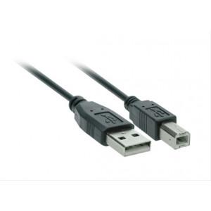 USB kabel, USB 2.0 A konektor - USB 2.0 B konektor, 3m, blistr
