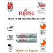Fujitsu přednabitá baterie White R03/AAA, 2100 nabíjecích cyklů, blistr 2ks