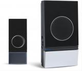 Bezdrátový zvonek, do zásuvky, 200m, černý, learning code