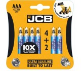 JCB OXI DIGITAL alkalická baterie LR03, blistr 6 ks
