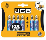 JCB OXI DIGITAL alkalická baterie LR06, blistr 6 ks