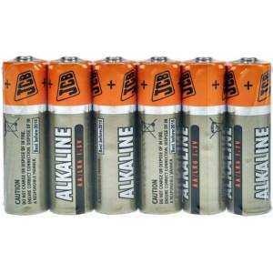 JCB SUPER alkalická baterie LR06, shrink 6 ks