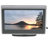 """LCD monitor 4"""" černo-stříbrný, drážák s přísavkou"""