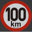 samolepka rychlosti REFLEXNÍ 100 km průměr 20 cm