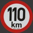 samolepka rychlosti REFLEXNÍ 110 km průměr 20 cm