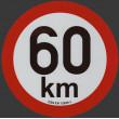 samolepka rychlosti REFLEXNÍ 60 km průměr 20 cm