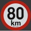 samolepka rychlosti REFLEXNÍ 80 km průměr 20 cm