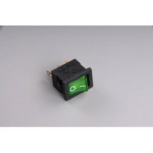 Přepínač podsvětlený 19x13mm zelený/malý/ 12V