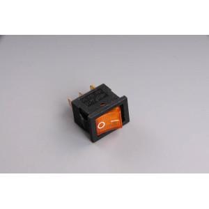 Přepínač podsvětlený 19x13mm žlutý/malý/ 12V