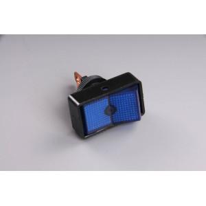 Přepínač podsvětlený 34x20mm modrý/velký/