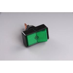 Přepínač podsvětlený 34x20mm zelený/velký/