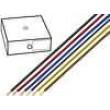 Kabel H05V-U drát Cu 1mm2 PVC červená 300/500V 100m