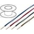 Kabel X05V-K licna Cu 0,5mm2 PVC fialovo-bílá 300/500V