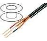Kabel mikrofonní kulatý licna OFC 3x0,14mm2 PVC 100m