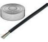 Telefonní kabel licna 6x28AWG černá 100m