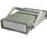 Krabička s panelem X:205mm Y:295mm Z:64mm ABS, hliník
