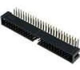 Zásuvka IDC vidlice PIN:50 úhlové 90° THT zlacený 2,54mm