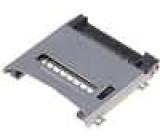 Konektor pro karty SD Micro s výklopným držákem SMT zlacený