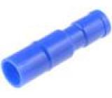 Konektor kulatý zásuvka d:4mm 2mm2 krimpovací na kabel 20A