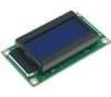 LCD display alfanumerický STN Negative 8x2 modrá LED
