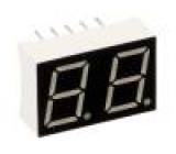 LED display dvoumístný 7-segmentový