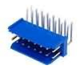Zásuvka kabel-pl.spoj DUBOX vidlice 16 PIN úhlové 90° THT