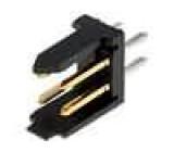 Zásuvka kabel-pl.spoj DUBOX vidlice 4 PIN přímý THT 2x2 3A