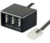 RJ11 zástrčka, TAE F socket, TAE N socket x2 Transition splitter