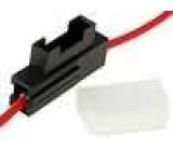 Pouzdro automobilové pojistky 19mm 0,5mm2 3A červená