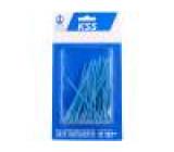 Stahovací pásek L:100mm W:2,5mm Barva modrá 100ks 78,5N