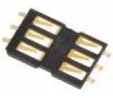 Konektor pro karty SIM bez vysouvacího mechanismu, bez krytu